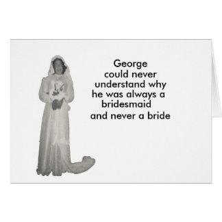 Cartão Sempre uma dama de honra