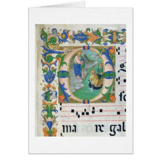 Cartão Senhora 515 f.1r o esboço miraculoso dos peixes,