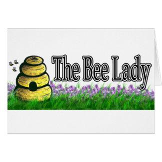 Cartão Senhora da abelha