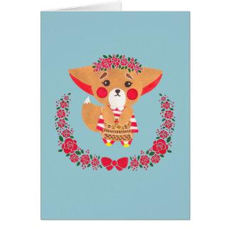 Cartão Senhorita Fennec Fox