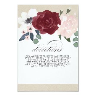 Cartão Sentidos florais românticos