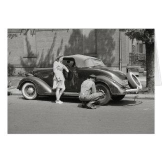 Cartão Serviço de reparação de automóveis, 1942