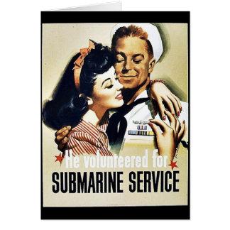 Cartão Serviço submarino