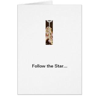 Cartão Siga a estrela!