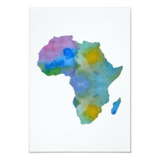 Cartão Silhueta colorida de África