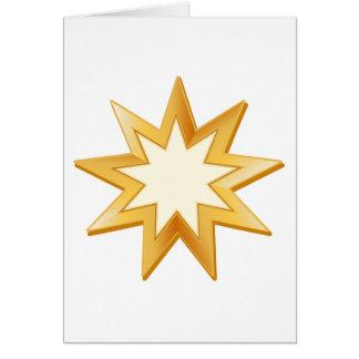 Cartão Símbolo de Baha'i