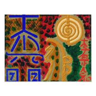 Cartão Símbolos curas principais de REIKI
