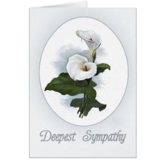 Cartão Simpatia, lírios de Calla brancos