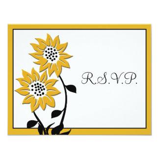 Cartão simples dos girassóis RSVP Convite 10.79 X 13.97cm