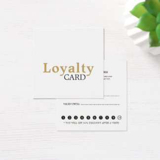 Cartão simples elegante da lealdade do salão de