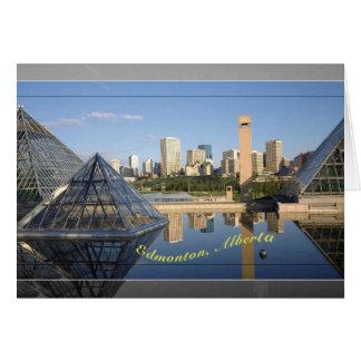 Cartão skyline de edmonton