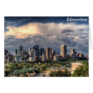 Cartão Skyline de Edmonton, Canadá