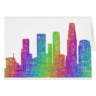 Cartão Skyline de Los Angeles