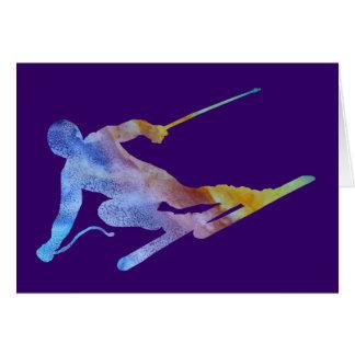 Cartão Slalom do arco-íris