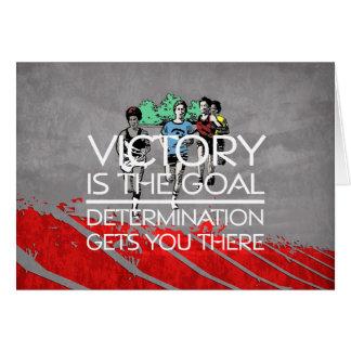 Cartão Slogan SUPERIOR da vitória da trilha