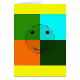 Cartão Smiley do pop art