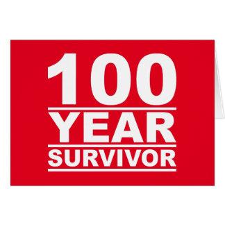 Cartão sobrevivente de 100 anos
