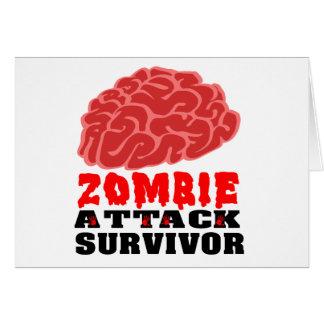 Cartão Sobrevivente do ataque do zombi