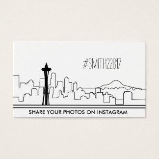 Cartão social Instagram dos meios de Seattle