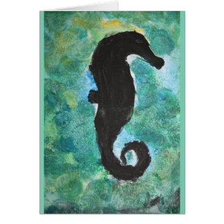 Cartão Sombra do cavalo marinho