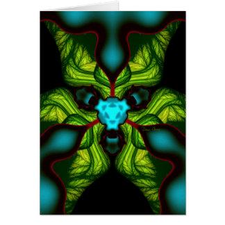 Cartão Sombras do demónio - esmeraldas e máscara amarela