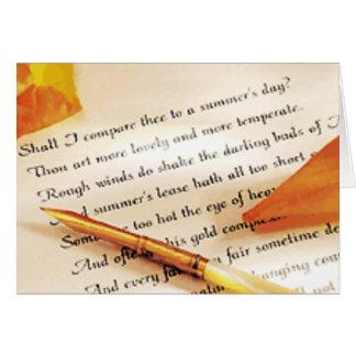 Cartão Soneto romântico