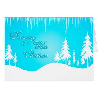 Cartão Sonho do White Christmas (Natal)