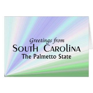 Cartão South Carolina