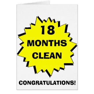Cartão Starburst 18 meses limpa