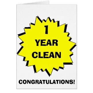 Cartão Starburst 1 ano limpo