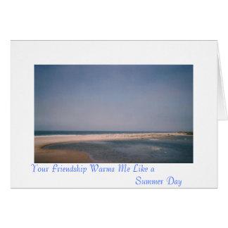Cartão Sua amizade aquece-se…