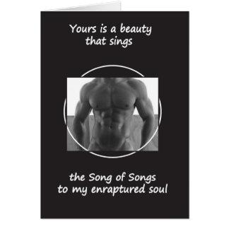 Cartão Sua beleza canta (o vazio para dentro)