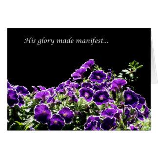 Cartão Sua glória