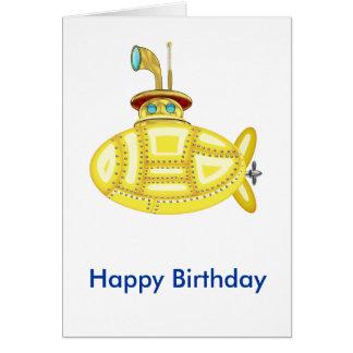 Cartão Submarino amarelo
