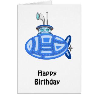 Cartão Submarino azul