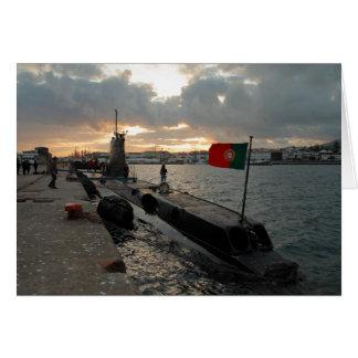 Cartão Submarino português do marinho