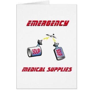 Cartão Subministros médicos da emergência