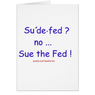 Cartão Sue o Fed