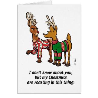 Cartão suor da rena