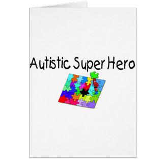 Cartão Super-herói autístico