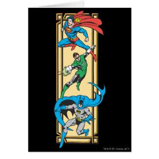 Cartão Super-herói na ação