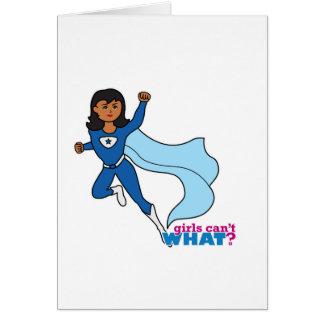 Cartão Super-herói - obscuridade