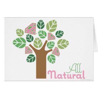 Cartão Supergirl toda a árvore natural