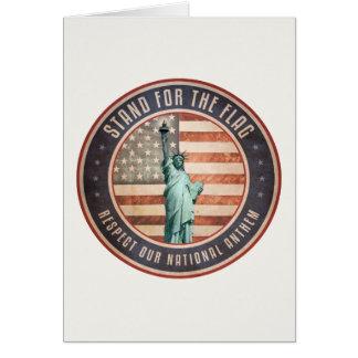 Cartão Suporte para a bandeira