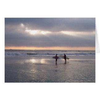 Cartão Surf da manhã