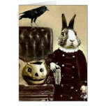 Cartão surrealista do Dia das Bruxas da arte do vi