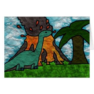 Cartão Susto de Dino