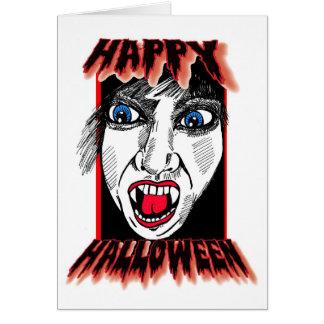 Cartão Sustos felizes do Dia das Bruxas