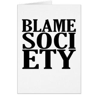 Cartão t-shirt K da sociedade da culpa