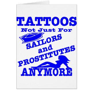 Cartão Tatuagens não apenas para marinheiros & prostituta